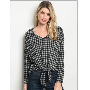 Tops - Price ⬇️ $35 Long Sleeve Waist Knot Tie Tunic Top